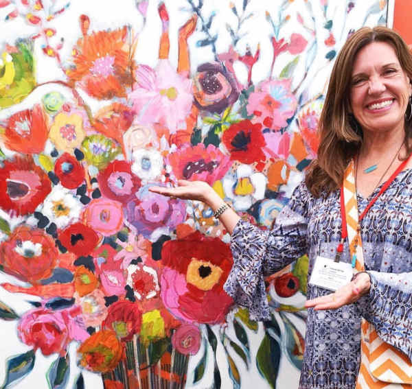 Lynn with Flower Painting